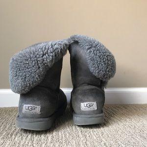 Grey Bailey Button UGG Boots